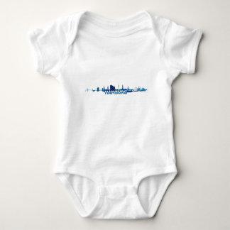 Hamburg Skyline Silhouette Baby Bodysuit