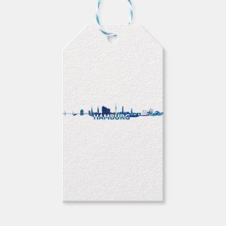 Hamburg Skyline Silhouette Gift Tags