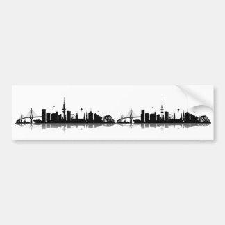 Hamburg skyline stickers bumper sticker