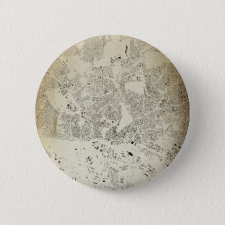 Hamburg Streets and Buildings Map Antic Vintage 2 Inch Round Button