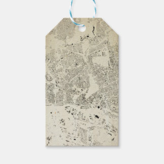 Hamburg Streets and Buildings Map Antic Vintage Gift Tags