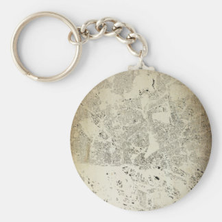 Hamburg Streets and Buildings Map Antic Vintage Keychain