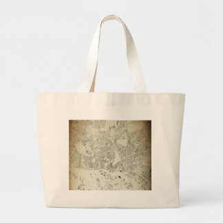 Hamburg Streets and Buildings Map Antic Vintage Large Tote Bag