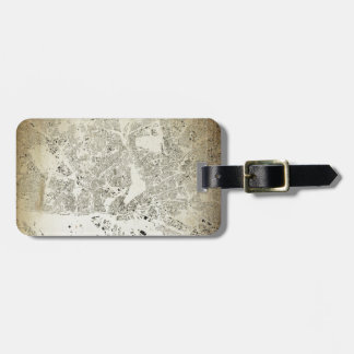 Hamburg Streets and Buildings Map Antic Vintage Luggage Tag