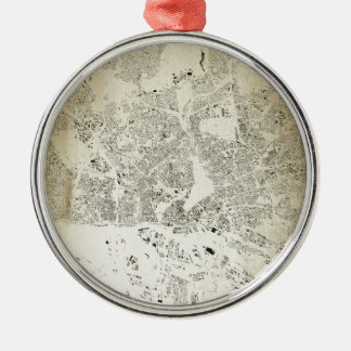 Hamburg Streets and Buildings Map Antic Vintage Metal Ornament