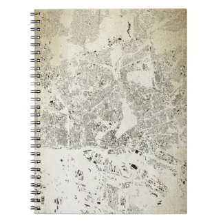 Hamburg Streets and Buildings Map Antic Vintage Notebook