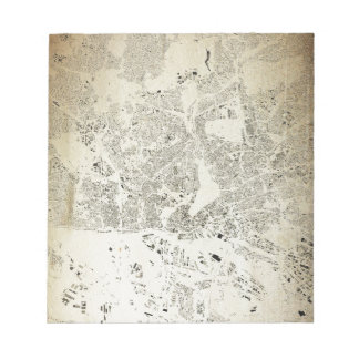Hamburg Streets and Buildings Map Antic Vintage Notepad