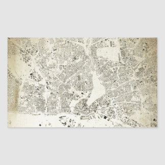 Hamburg Streets and Buildings Map Antic Vintage Sticker