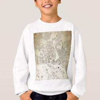 Hamburg Streets and Buildings Map Antic Vintage Sweatshirt