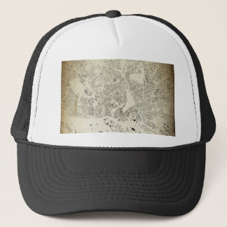 Hamburg Streets and Buildings Map Antic Vintage Trucker Hat