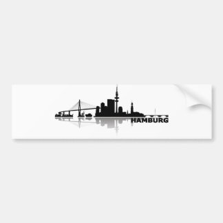 Hamburg town center of skyline bumper sticker