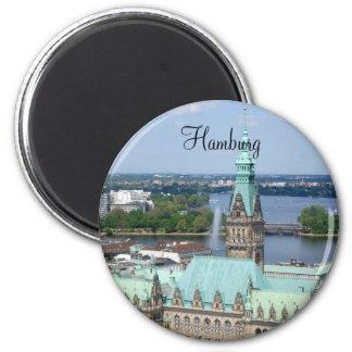 Hamburg Town Hall 2 Inch Round Magnet