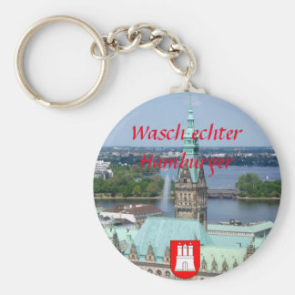 Hamburg Townhall Basic Round Button Keychain