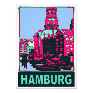 Hamburg Travel Poster