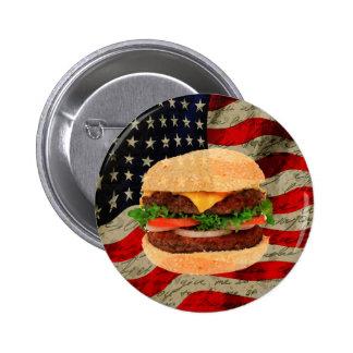 Hamburger 2 Inch Round Button