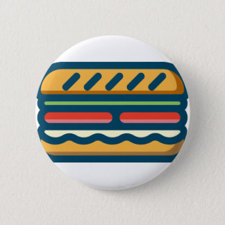 Hamburger 2 Inch Round Button