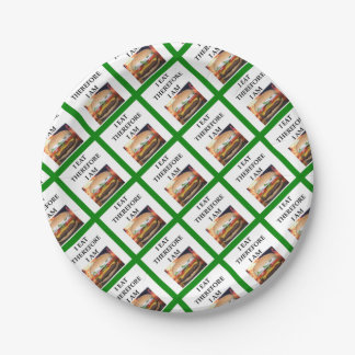 HAMBURGER 7 INCH PAPER PLATE