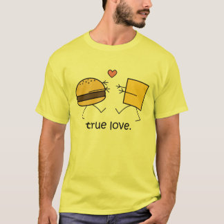 "Hamburger and Cheese ""True Love"" Shirt (Light)"