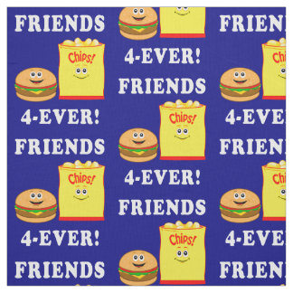 Hamburger and Chips: Friends Forever Fabric