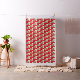 Hamburger and Drink combed cotton material kitchen Fabric