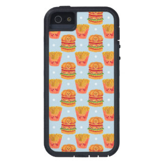 Hamburger and French Fries Pattern iPhone 5 Covers