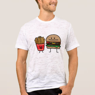 Hamburger and Fries fast food bun junk fried hot T-Shirt