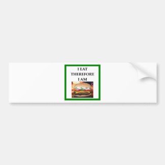 HAMBURGER BUMPER STICKER