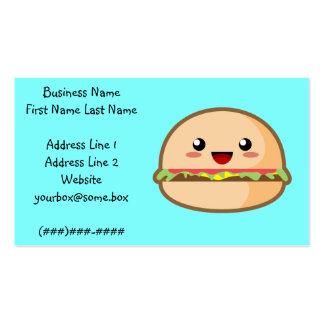 Hamburger Business Card Template