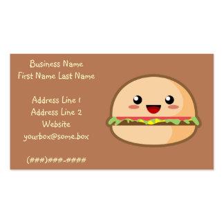 Hamburger Business Cards