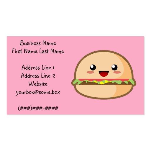 Hamburger Business Card Templates