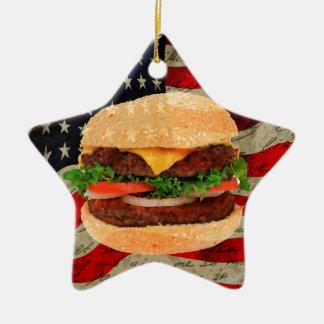 Hamburger Ceramic Star Ornament