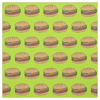 hamburger design fabric