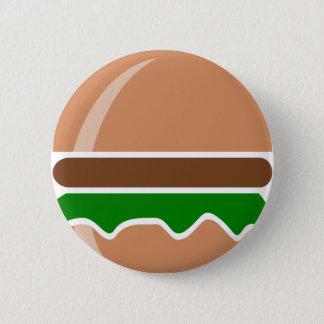 Hamburger fast food a sandwich 2 inch round button
