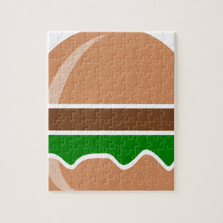 Hamburger fast food a sandwich jigsaw puzzle