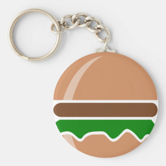 Hamburger fast food a sandwich keychain