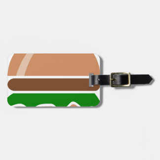 Hamburger fast food a sandwich luggage tag