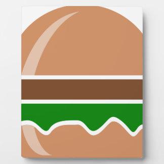 Hamburger fast food a sandwich plaque