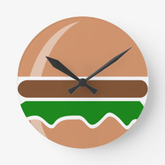 hamburger fast food a sandwich round clock