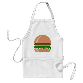 hamburger fast food a sandwich standard apron