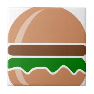 Hamburger fast food a sandwich tile