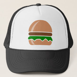 hamburger fast food a sandwich trucker hat