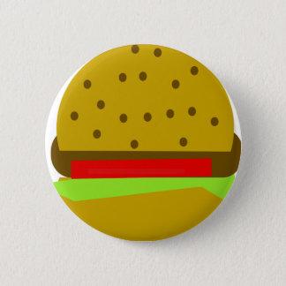 hamburger food fast food burger 2 inch round button