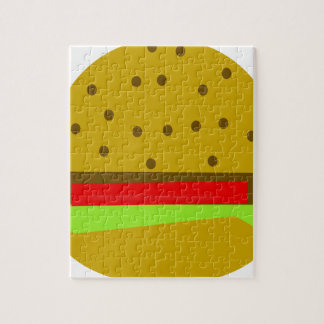 hamburger food fast food burger jigsaw puzzle