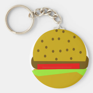 hamburger food fast food burger keychain
