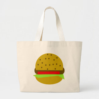 Hamburger food fast food burger large tote bag
