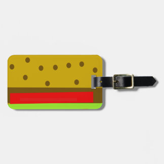 Hamburger food fast food burger luggage tag