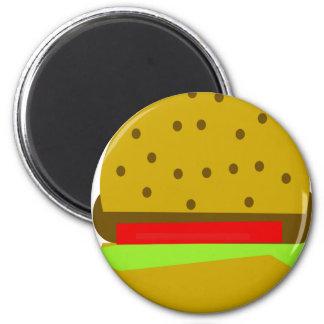 hamburger food fast food burger magnet