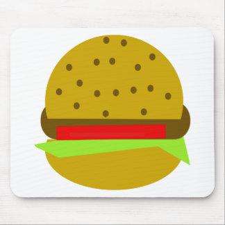 Hamburger food fast food burger mouse pad