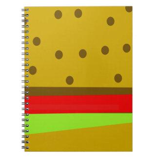 Hamburger food fast food burger notebook