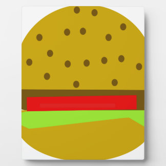 hamburger food fast food burger plaque